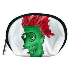 Crazy Man Drawing  Accessory Pouches (medium)