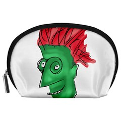 Crazy Man Drawing  Accessory Pouches (large)