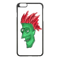 Crazy Man Drawing  Apple Iphone 6 Plus/6s Plus Black Enamel Case
