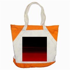 Abstract Of Red Horizontal Lines Accent Tote Bag by Amaryn4rt