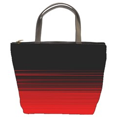 Abstract Of Red Horizontal Lines Bucket Bags by Amaryn4rt