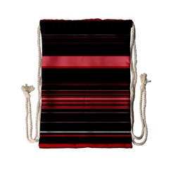 Abstract Of Red Horizontal Lines Drawstring Bag (small) by Amaryn4rt