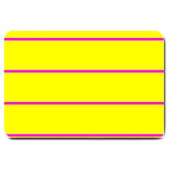 Background Image Horizontal Lines And Stripes Seamless Tileable Magenta Yellow Large Doormat  by Amaryn4rt
