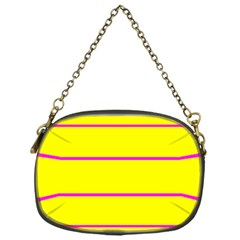 Background Image Horizontal Lines And Stripes Seamless Tileable Magenta Yellow Chain Purses (one Side)
