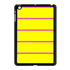 Background Image Horizontal Lines And Stripes Seamless Tileable Magenta Yellow Apple Ipad Mini Case (black) by Amaryn4rt
