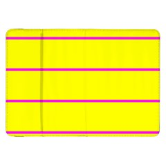 Background Image Horizontal Lines And Stripes Seamless Tileable Magenta Yellow Samsung Galaxy Tab 8 9  P7300 Flip Case by Amaryn4rt