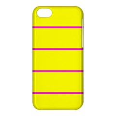 Background Image Horizontal Lines And Stripes Seamless Tileable Magenta Yellow Apple Iphone 5c Hardshell Case by Amaryn4rt