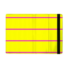 Background Image Horizontal Lines And Stripes Seamless Tileable Magenta Yellow Ipad Mini 2 Flip Cases