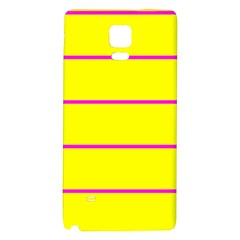 Background Image Horizontal Lines And Stripes Seamless Tileable Magenta Yellow Galaxy Note 4 Back Case by Amaryn4rt
