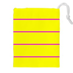 Background Image Horizontal Lines And Stripes Seamless Tileable Magenta Yellow Drawstring Pouches (xxl) by Amaryn4rt