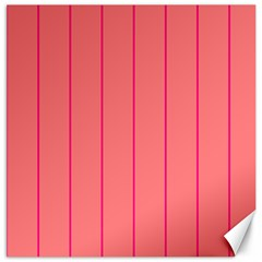Background Image Vertical Lines And Stripes Seamless Tileable Deep Pink Salmon Canvas 12  X 12   by Amaryn4rt