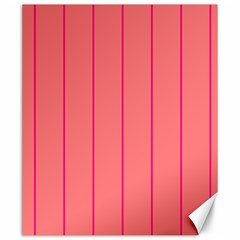 Background Image Vertical Lines And Stripes Seamless Tileable Deep Pink Salmon Canvas 20  X 24