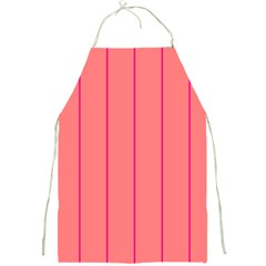 Background Image Vertical Lines And Stripes Seamless Tileable Deep Pink Salmon Full Print Aprons by Amaryn4rt