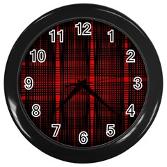 Black And Red Backgrounds Wall Clocks (black) by Amaryn4rt
