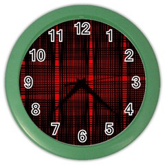 Black And Red Backgrounds Color Wall Clocks by Amaryn4rt
