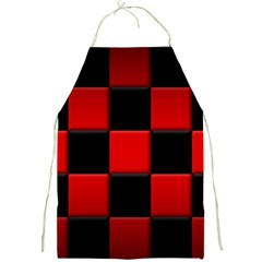Black And Red Backgrounds Full Print Aprons by Amaryn4rt