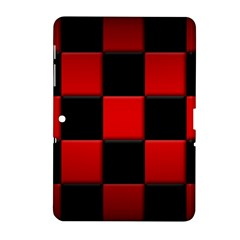 Black And Red Backgrounds Samsung Galaxy Tab 2 (10 1 ) P5100 Hardshell Case  by Amaryn4rt