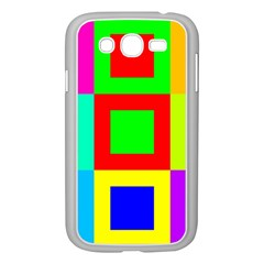 Colors Purple And Yellow Samsung Galaxy Grand Duos I9082 Case (white)