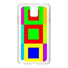Colors Purple And Yellow Samsung Galaxy Note 3 N9005 Case (white) by Amaryn4rt