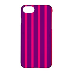 Deep Pink And Black Vertical Lines Apple Iphone 7 Hardshell Case