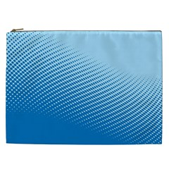 Blue Dot Pattern Cosmetic Bag (xxl)  by Amaryn4rt