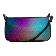 Blue And Pink Colors On A Pattern Shoulder Clutch Bags by Amaryn4rt