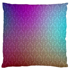 Blue And Pink Colors On A Pattern Large Cushion Case (two Sides) by Amaryn4rt