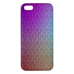 Blue And Pink Colors On A Pattern Apple Iphone 5 Premium Hardshell Case by Amaryn4rt