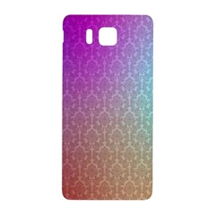 Blue And Pink Colors On A Pattern Samsung Galaxy Alpha Hardshell Back Case by Amaryn4rt