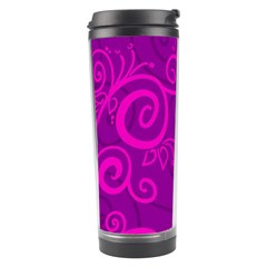 Floraly Swirlish Purple Color Travel Tumbler by Amaryn4rt