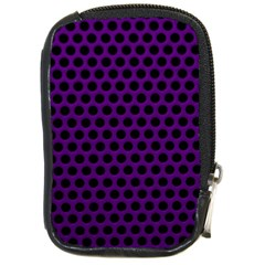 Dark Purple Metal Mesh With Round Holes Texture Compact Camera Cases by Amaryn4rt