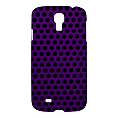 Dark Purple Metal Mesh With Round Holes Texture Samsung Galaxy S4 I9500/i9505 Hardshell Case by Amaryn4rt