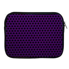Dark Purple Metal Mesh With Round Holes Texture Apple Ipad 2/3/4 Zipper Cases by Amaryn4rt