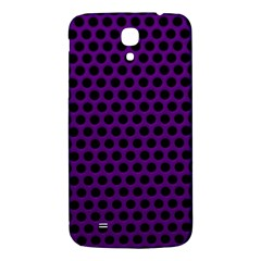 Dark Purple Metal Mesh With Round Holes Texture Samsung Galaxy Mega I9200 Hardshell Back Case by Amaryn4rt