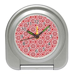 Floral Abstract Pattern Travel Alarm Clocks by Amaryn4rt