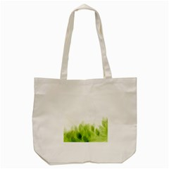 Green Leaves Pattern Tote Bag (cream)