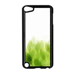 Green Leaves Pattern Apple Ipod Touch 5 Case (black) by Amaryn4rt