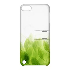 Green Leaves Pattern Apple Ipod Touch 5 Hardshell Case With Stand by Amaryn4rt