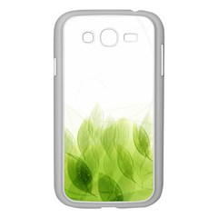 Green Leaves Pattern Samsung Galaxy Grand Duos I9082 Case (white) by Amaryn4rt
