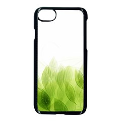 Green Leaves Pattern Apple Iphone 7 Seamless Case (black) by Amaryn4rt