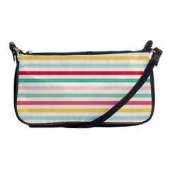 Papel De Envolver Hooray Circus Stripe Red Pink Dot Shoulder Clutch Bags by Amaryn4rt