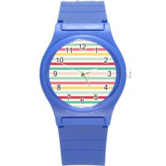 Papel De Envolver Hooray Circus Stripe Red Pink Dot Round Plastic Sport Watch (s) by Amaryn4rt
