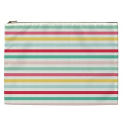 Papel De Envolver Hooray Circus Stripe Red Pink Dot Cosmetic Bag (xxl)