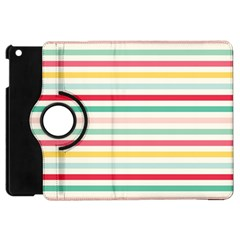 Papel De Envolver Hooray Circus Stripe Red Pink Dot Apple Ipad Mini Flip 360 Case
