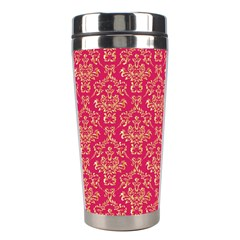Damask Background Gold Stainless Steel Travel Tumblers