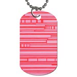 Index Red Pink Dog Tag (Two Sides) Front
