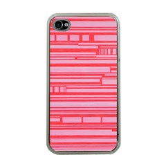 Index Red Pink Apple Iphone 4 Case (clear)