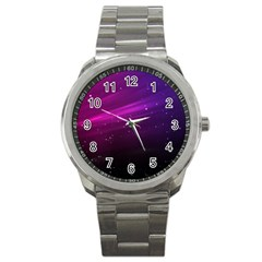 Purple Wallpaper Sport Metal Watch by Amaryn4rt