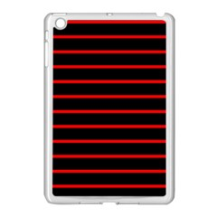 Red And Black Horizontal Lines And Stripes Seamless Tileable Apple Ipad Mini Case (white) by Amaryn4rt