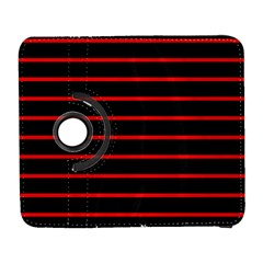 Red And Black Horizontal Lines And Stripes Seamless Tileable Galaxy S3 (flip/folio) by Amaryn4rt
